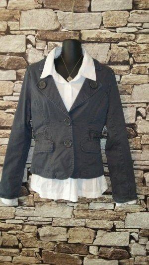 Amisu Blazer stile Boyfriend grigio-grigio chiaro Cotone