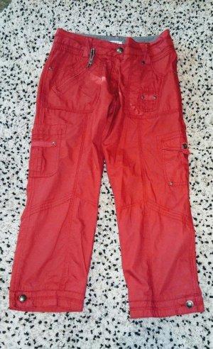 Yessica Pantalone cargo rosso mattone-rosso Cotone