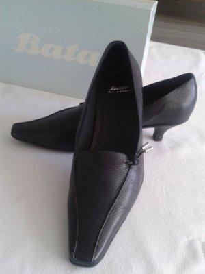 Bata Pumps dark blue imitation leather