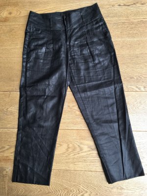 St. emile Pantalon 7/8 noir lin