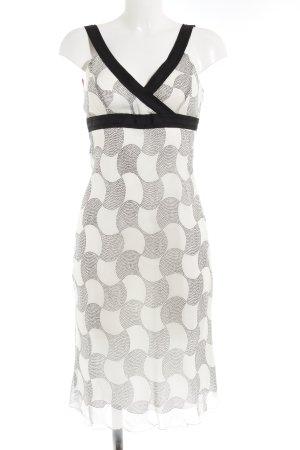 St. emile Abendkleid weiß-schwarz grafisches Muster Elegant