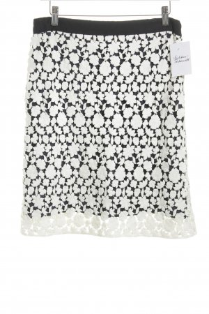 St. emile Pencil Skirt dark blue-natural white floral pattern elegant