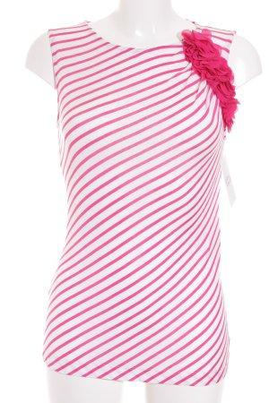 St. emile Blusa bianco-rosa motivo a righe stile spiaggia