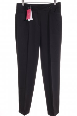 St. emile Bundfaltenhose schwarz Business-Look