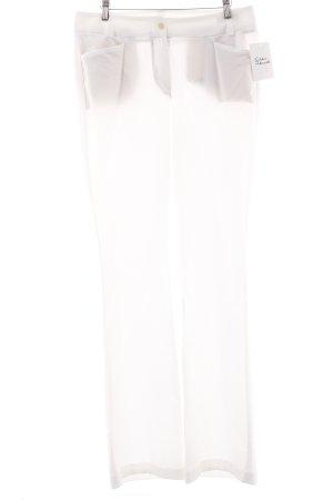 St. emile Bundfaltenhose weiß Elegant