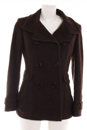 St. emile Pea Jacket dark brown casual look
