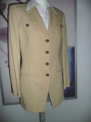 St. Emile eleganter Business Long Blazer Sand Beige Gr 38