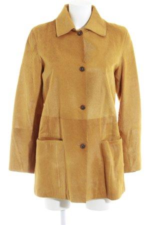 St. emile Giacca di pelliccia arancione chiaro look vintage