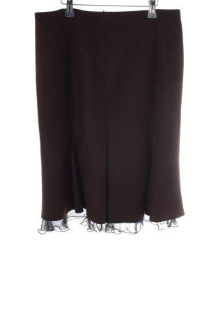 St. emile Jupe évasée brun foncé-noir style décontracté