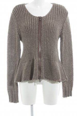 St. emile Coarse Knitted Jacket beige-purple shimmery