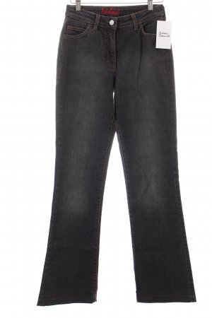 St. emile High Waist Jeans dunkelgrau Washed-Optik