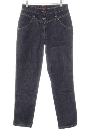 St. emile High Waist Jeans stahlblau-dunkelblau meliert Casual-Look