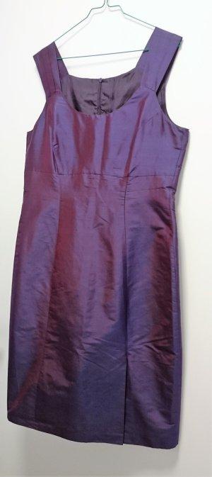 St. Emile Kleid Abendkleid Etuikleid aubergine violett schwarz festlich Gr. 42