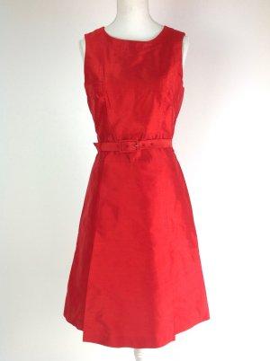 St. Emile Kleid aus 100% Seide rot Gr. 34