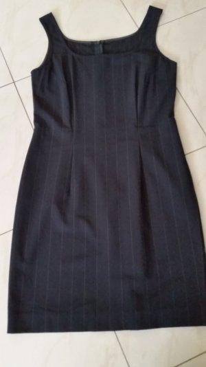 ST. EMILE Kleid Gr.36 Dress Robe Etuikleid Stretch schwarz Streifen Schurwolle