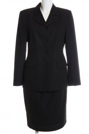 St. emile Kostüm schwarz Streifenmuster Business-Look