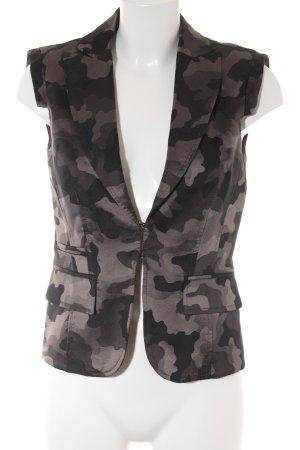 St. emile Kurz-Blazer grüngrau Camouflagemuster Casual-Look