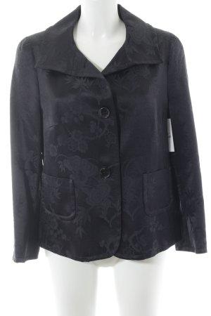 St. emile Kurz-Blazer schwarz florales Muster Elegant