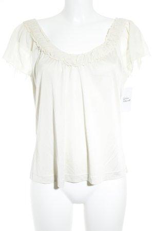 St. emile Kurzarm-Bluse creme Elegant
