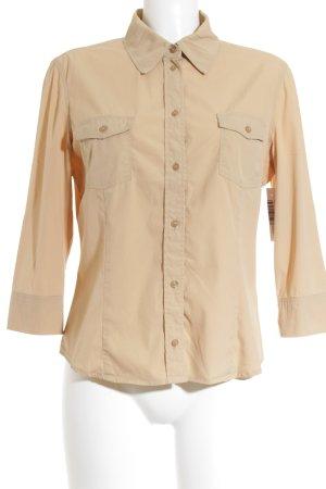 St. emile Langarm-Bluse beige schlichter Stil