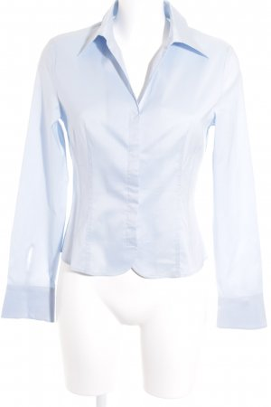 St. emile Langarm-Bluse himmelblau Business-Look