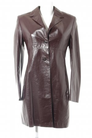 St. emile Cappotto in pelle bordeaux stile rockabilly