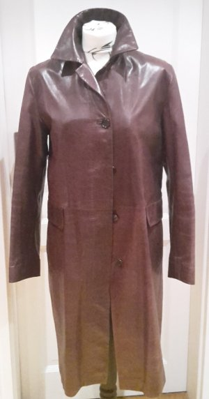 St. emile Leather Coat brown-bordeaux leather