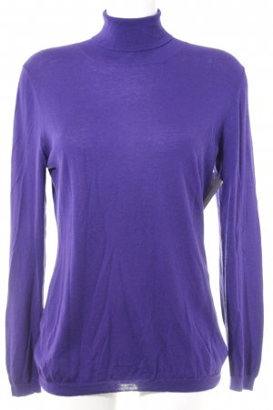 St. emile Turtleneck Sweater lilac weave pattern casual look