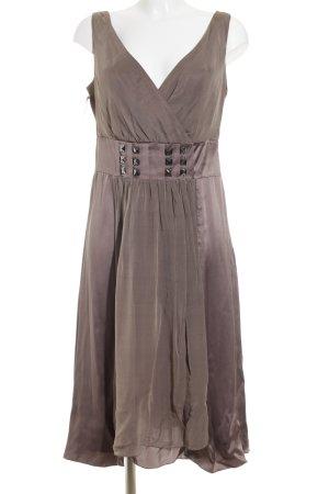 St. emile schulterfreies Kleid graubraun Elegant