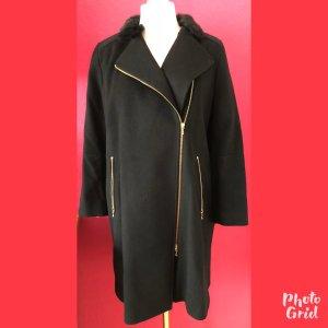 St. emile Abrigo de lana negro lana de esquila