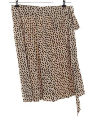 St. emile Silk Skirt nude-black allover print casual look