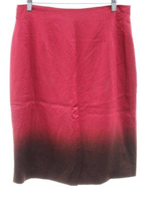 St. emile Seidenrock rot-braun Farbverlauf Casual-Look