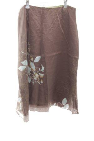 St. emile Silk Skirt floral pattern wet-look