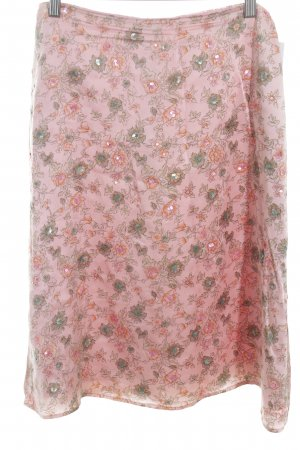 St. emile Seidenrock rosa florales Muster Elegant