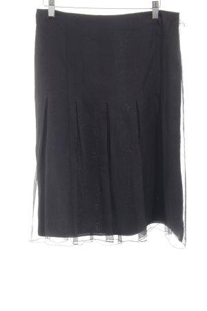 St. emile Zijden rok zwart elegant