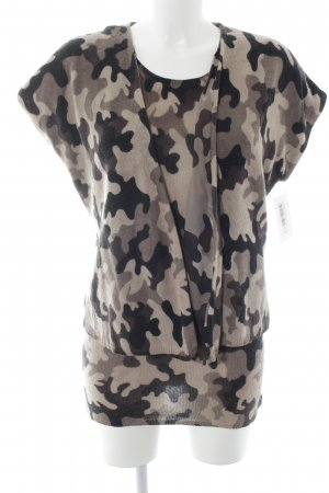 St. emile Knitted Twin Set camouflage pattern animal print