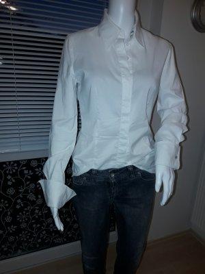 St. emile Chaqueta tipo blusa blanco puro