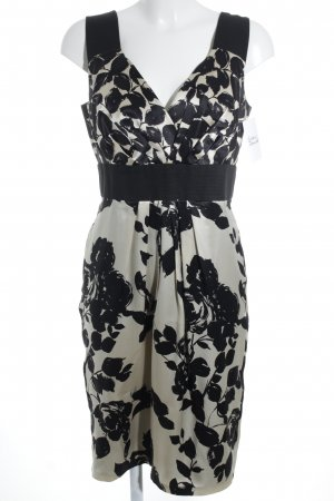 St. emile Trägerkleid schwarz-creme Blumenmuster Elegant
