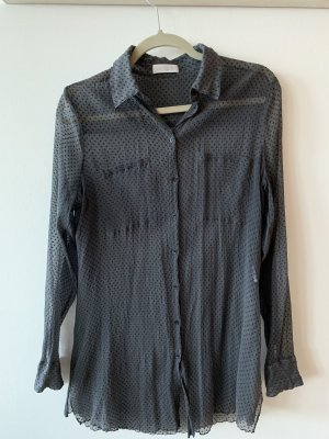 Silk Blouse grey-dark grey