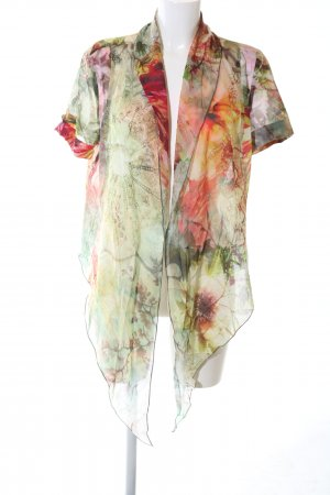 St. emile Transparenz-Bluse abstraktes Muster Casual-Look