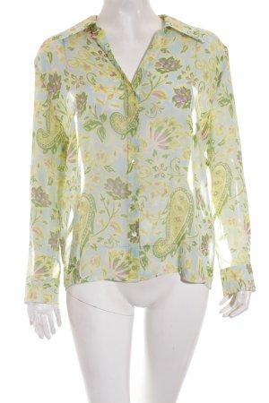 St. emile Transparenz-Bluse florales Muster Transparenz-Optik