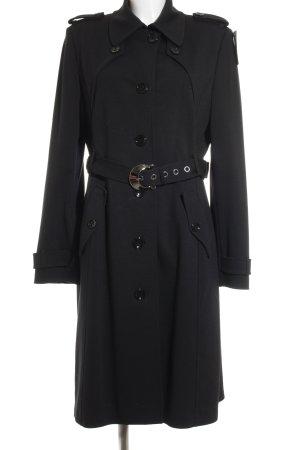 St. emile Trenchcoat schwarz-silberfarben Elegant