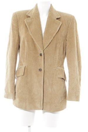 St. emile Tweed blazer camel krijtstreep casual uitstraling