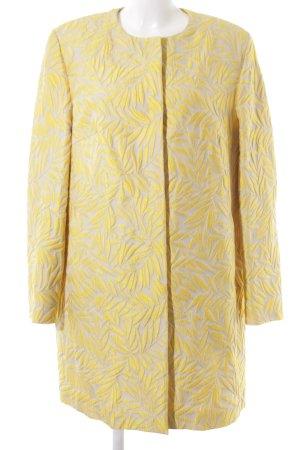 St. emile Übergangsmantel gelb-creme florales Muster extravaganter Stil