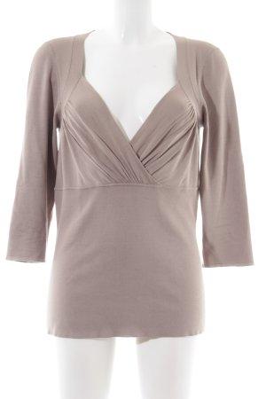 St. emile V-Ausschnitt-Pullover wollweiß Elegant