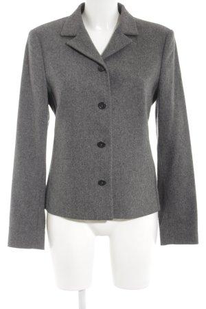 St. emile Blazer in lana grigio-grigio scuro puntinato stile casual