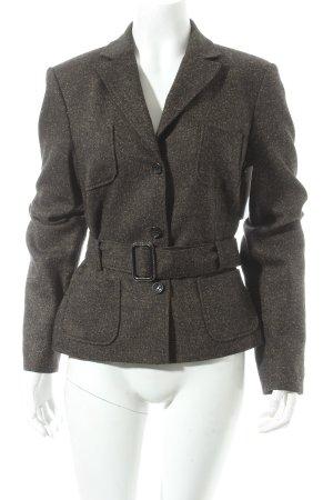 St. emile Woll-Blazer schwarz-graubraun schlichter Stil
