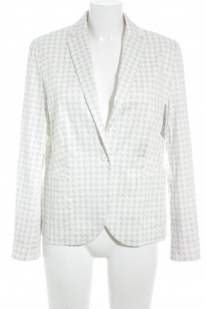 St. emile Wool Blazer natural white-light grey houndstooth pattern