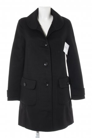St. emile Cappotto in lana nero stile classico