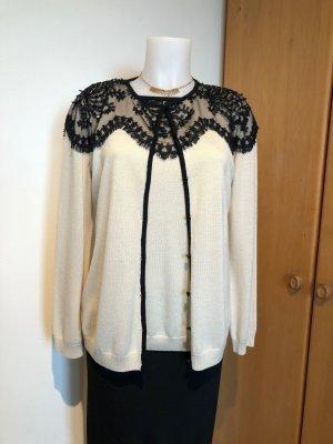 St. John Sweater Twin Set black-pale yellow